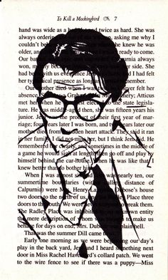 Atticus Finch Printed Illustration on Page from by IanJohnArt, $13.80