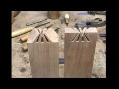 Amazing Japanese Sunrise dovetail joint. Japanese joinery. - YouTube