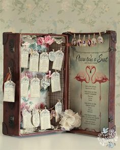 suitcase vintage table plan