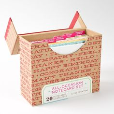 All-Occasion Notecard Set by Two Trick Pony Price $18.95: Definitely has a card for all the major occassions, great set!!
