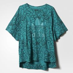 We love this oversized aqua tee from @adidas' Dear Baes collection. #paypalit for a pop of summer color and look forward to lounging in style.