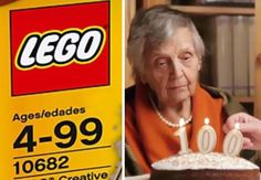 When You Turn 100 And Can't Play With LEGO Anymore