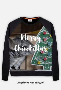 Christmas gift idea for chinchillas fans. Visit store to buy fullprint longsleeve for men with chinchillas. | Pomysł na prezent dla miłośnika szynszyli. Odwiedź nasz sklep i kup męską bluzę fullprint z szynszylą już teraz. (www.uszynszyla.cupsell.pl) #christmas #szynszyla #prezenty #uszynszyla #mrstefano #ecobag #longsleeve #chinchillas #szynszyle