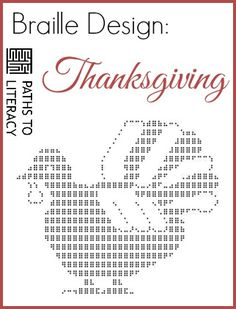 Braille Design Of Turkey With Feathers For Thanksgiving