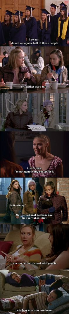 I have so much in common with Paris Geller.   Gilmore Girls.