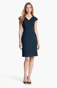 Adrianna Papell Cap Sleeve Sheath Dress | Nordstrom