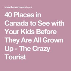 40 Places in Canada to See with Your Kids Before They Are All Grown Up - Page 26 of 40 - The Crazy Tourist Summer Travel, Travel With Kids, Niagara Falls Toronto, Discover Canada, Famous Waterfalls, East Coast Travel, Canadian Travel, O Canada, Kids Growing Up