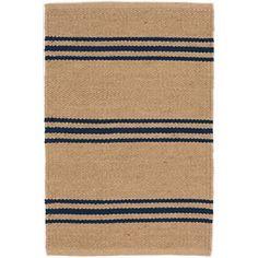 Lexington Navy/Camel Indoor/Outdoor Rug   Dash & Albert - quality indoor/outdoor rugs