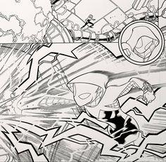 Spider-Gwen from Marvel Comics WEB WARRIORS. Pencils: David Baldeon, Inks: Walden Wong Sub me on www.youtube.com/WaldenWongArt . #marvel #marvelcomics #anime #manga #sketch #inker #comics #spiderman #spiderverse #illustration #arts #artwork #micron #spidergwen #comics #artworks #MCU #artwork #art #artist #draw #drawing #illustrate #arte #inking #inks #draweveryday #picoftheday #spiderham #doodleart #drawingoftheday #drawdrawdraw
