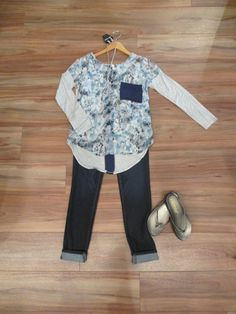 This outfit will work throughout the summer and even into fall! #ootd #fashion #style #blue #outfit #MainstreamBoutique
