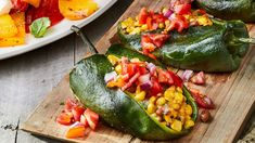 Grilled Stuffed Poblano Peppers Recipe  Salads & Veggies Grilled Stuffed Poblano Peppers Recipe | Southern Living