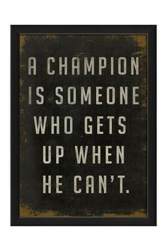 EB A Champion Is Custom Framed Wall Art by Spicher & Co. on @HauteLook