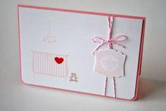 """Karte """"zum Babyglück"""" in rosa von Various Art auf DaWanda.com"""