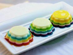 Cupcakes de gelatina de colores