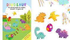 DINOSAUR ACTIVITY SHEETS FOR 3-5 YEARS OLD | FREE PRINTABLE PACK