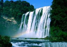 Huangguoshu Waterfall, one of the 'Top 10 attractions in Guizhou, China' by China.org.cn.