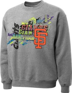 San Francisco Giants Grey Mitchell & Ness Stacked Crewneck Sweatshirt