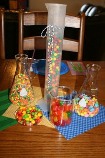 Science Party... I really like the idea of Nerds in a science beaker