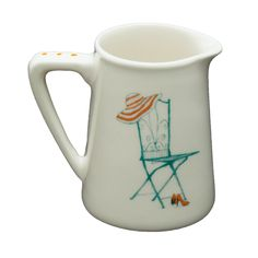 Jug: Pitcher Heart Range Chair R140,00 Colour: Teal and Orange 1 x 260ml Ceramic Pitcher Jug Dishwasher and Microwave safe Call us: +27 (0) 861999938 Chutney Grey - Cape Town