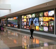 RigidLyte Premium V lightbox wall in hospital lobby | Blue River Digital