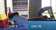 Chest Stand, No Assistance Before and After - The Flexibility Challenge