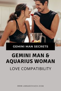 Are you an Aquarius woman trying to woo the heart of a Gemini man? It may be your lucky day! Learn about Gemini man with Aquarius woman love compatibility, how your signs may match, and how you can possibly attract him. Aquarius Woman, Gemini Man, Man Close, Love Compatibility, Lucky Day, Happily Ever After, Signs, Heart, Women