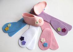 Baby Bootie KIT Wool Felt DIY Sewing Kit Pre Cut by FeltOnTheFly