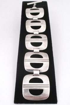 Georg Jensen, Denmark - sterling silver large link bracelet #197 by Ibe Dahlquist - rare