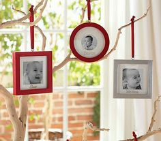 Pottery Barn Inspired picture frame ornaments