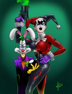 Mash-up! The Joker as Roger Rabbit and Harley Quinn as Jessica Rabbit. #Mashup…