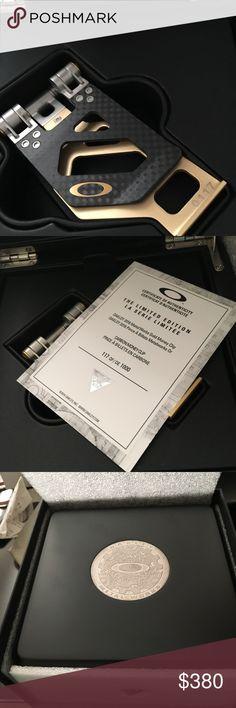 Rare Gold Carbon Fiber Money Clip Oakley Gold Edition Carbon Fiber Money Clip.  Super Rare 117/1000 made!! Brand New in Box Oakley Accessories Money Clips