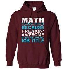 Math Teacher - #hoodie schnittmuster #sweater scarf. BUY TODAY AND SAVE => https://www.sunfrog.com/LifeStyle/Math-Teacher-Maroon-Hoodie.html?68278