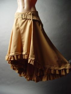 shut the front door!! With ruffled or lace riding pantaloons underneath??? I think yes. Steampunk Victorian Western Country Prairie Desert Frontier Riding Belt Skirt