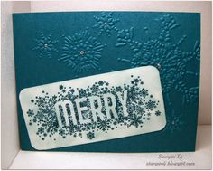 Quick Christmas Card   Seasonally Scattered   Stampin' Up!