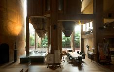 Cheating an office into an unused cement factory, 1973 [Taller de Architectura Headquarters   Ricardo Bofill]