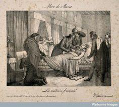La Muerte de André Mazet, litografía (1821)