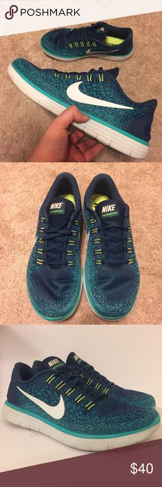 121681fe3 Nike Free RN Distance Mens Shoes Teal Size 11 Basically brand new. Worn 5x.