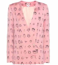 SHRIMPS l Vera wool printed blazer l Mytheresa saved by #ShoppingIS