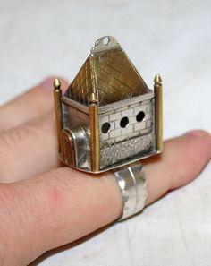 Russian-Antique-Judaica-Sterling-Silver-84-Bridal-Wedding-Ring-19th-Century