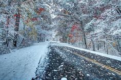 Road To Snow On The Blue Ridge Parkway