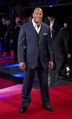 Dwayne Johnson, 'The Rock', arrives on the red carpet for the UK Premiere of GI Joe 3D Retaliation, at a central London cinema in Leicester Square, Monday, March 18, 2013. (Photo by Joel Ryan/Invision/AP)
