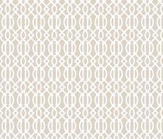 Linen Beige Trellis fabric by sweetzoeshop on Spoonflower - custom fabric