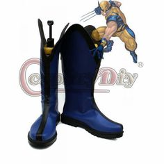 X-Men Cosplay Accessories Adult Men's Boots Shoes Custom Made Men's Boots, Shoe Boots, Shoes, Men Cosplay, X Men, Rubber Rain Boots, Custom Made, Accessories, Fashion