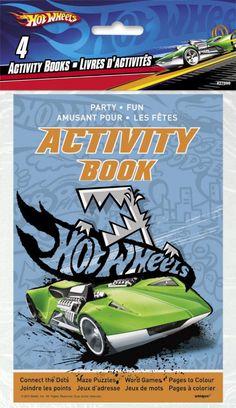 4 livres d'activités - Hot Wheels