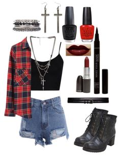 Soft grunge ~ flannel outfits