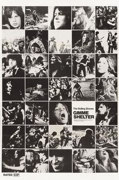The Rolling Stones - Gimme Shelter - Mini Print B