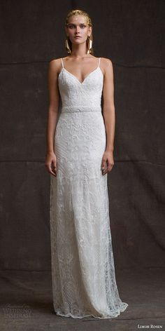 limor rosen bridal 2016 treasure camille sleeveless sheath wedding dress beaded straps