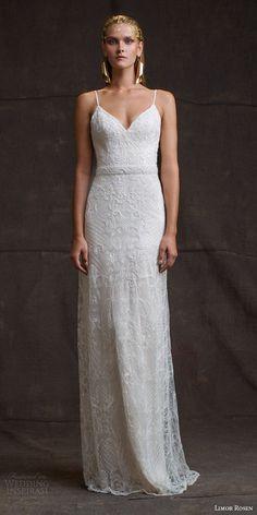 limor rosen bridal 2016 treasure camille sleeveless sheath wedding dress beaded straps