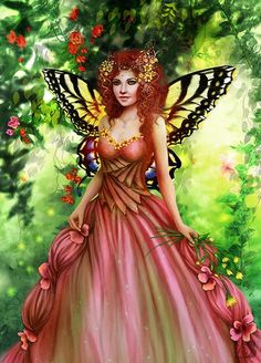 pink fairie - by Brooke Gillette | Featured Artist on the Fantasy Gallery
