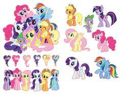 Mi pequeño Pony la amistad es magia grupo Shot Set extraíble